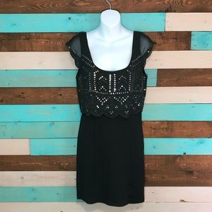 American Eagle Outfitters Sequin Overlay Dress
